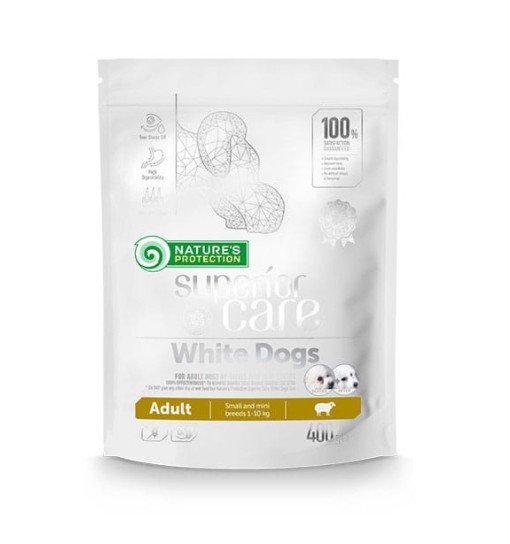 Nature's Protection White Dogs Adult Small and Mini Breeds with Lamb