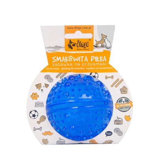 """Dingo Zabawka dla psa """"smakowita piłka z kolcami"""", śr. 8 cm niebieska"""