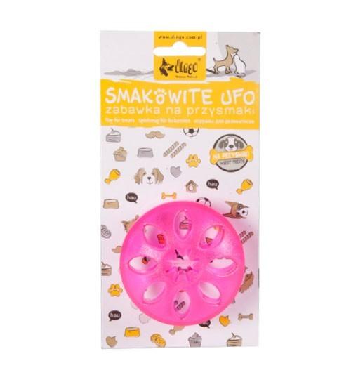 """Dingo Zabawka dla psa """"smakowite ufo"""" - gwiazdka 8 cm różowa"""