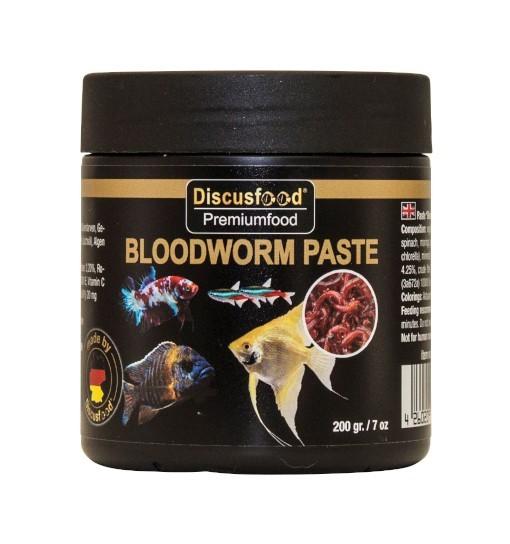 Discusfood Bloodworm Paste 200g - pokarm w paście dla ryb tropikalnych