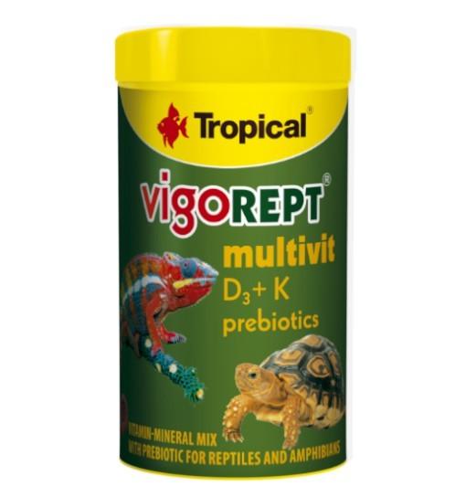 Tropical Vigorept Multivit 70g - mieszanka witaminowo-mineralna z prebiotykiem dla gadów i płazów