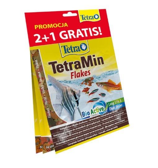 TetraMin Flakes - zestaw saszetek 2+1 GRATIS (Rubin, Phyll, Min)