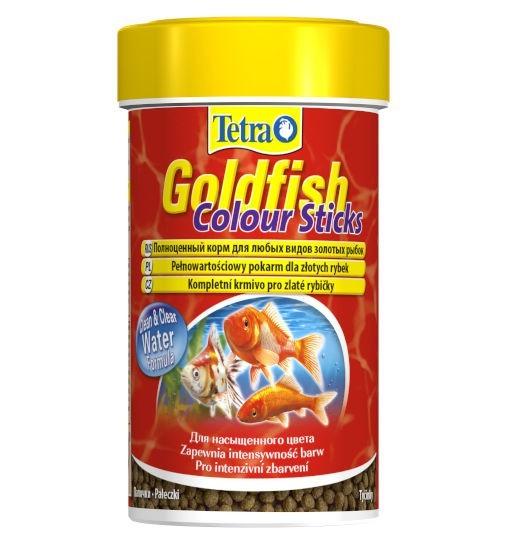 Tetra Goldfish Colour Sticks -  pokarm w postaci pałeczek dla złotych rybek