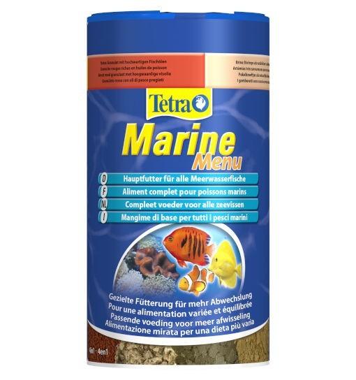 Tetra Marine Menu - mieszanka czterech pokarmów dla ryb morskich
